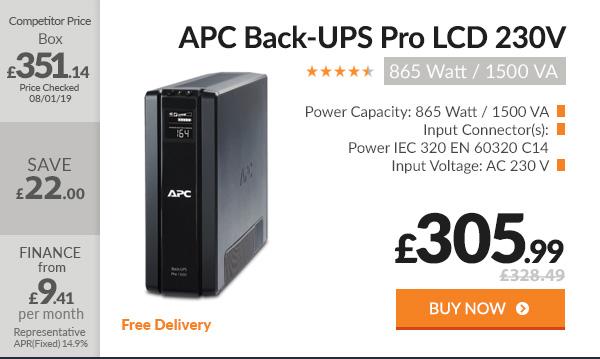 APC Back-UPS Pro 865 Watt 1500 VA LCD 230V