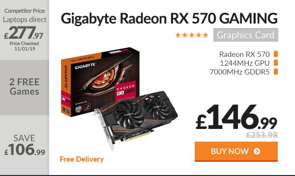 Gigabyte Radeon RX 570 4GB GAMING Graphics Card