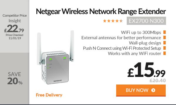 Netgear EX2700 - Wireless N300 Network Range Extender