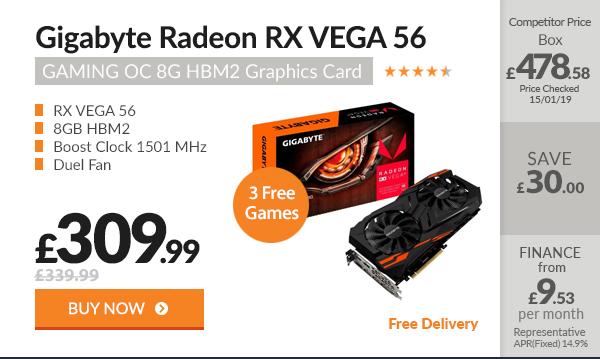 Gigabyte Radeon RX VEGA 56 GAMING OC 8G HBM2 Graphics Card