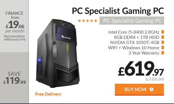 PC Specialist Vanquish Nexus Elite Gaming PC