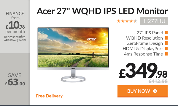 Acer H277HU 27in WQHD IPS LED Monitor