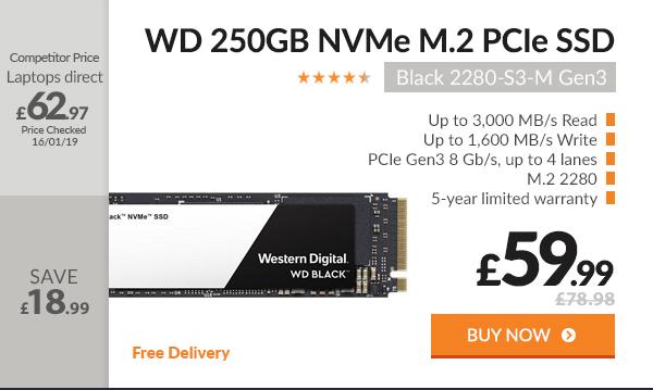 WD SSD Black 250GB M.2 PCIE Gen3