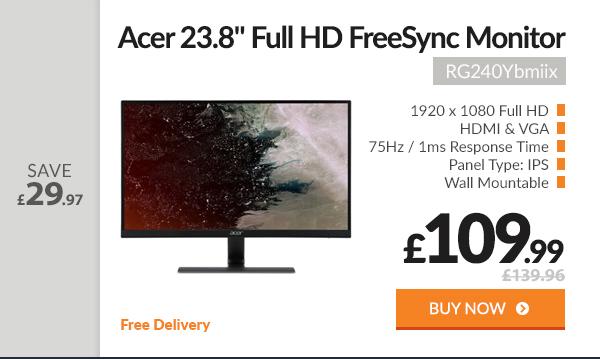Acer RG240Ybmiix 23.8in Full HD FreeSync 1ms Monitor