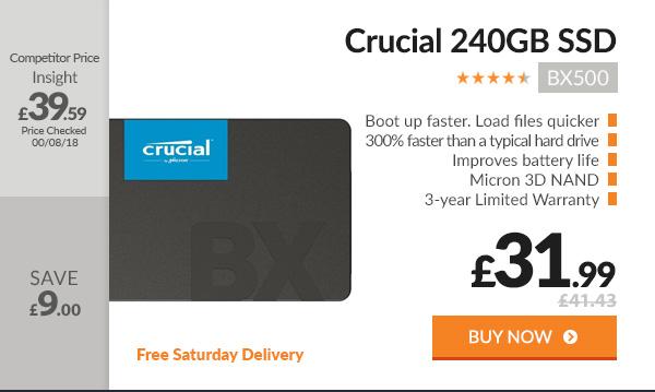 Crucial BX500 240GB SSD