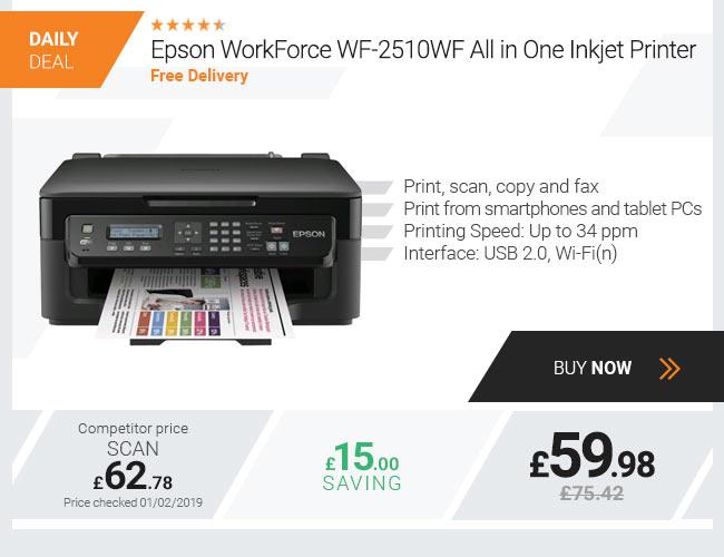 Epson WorkForce WF-2510WF All in One Inkjet Printer