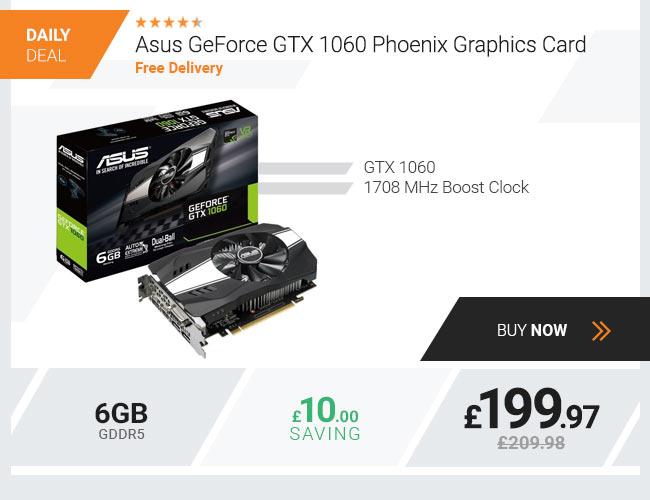 Asus GeForce GTX 1060 Phoenix 6GB GDDR5 Graphics Card
