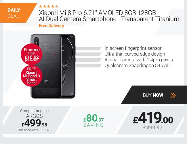 Xiaomi Mi 8 Pro 6.21in AMOLED 8GB 128GB AI Dual Camera Smartphone