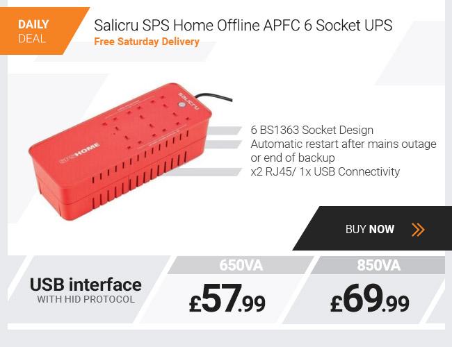 Salicru SPS Home Offline APFC 6 Socket 650VA UPS