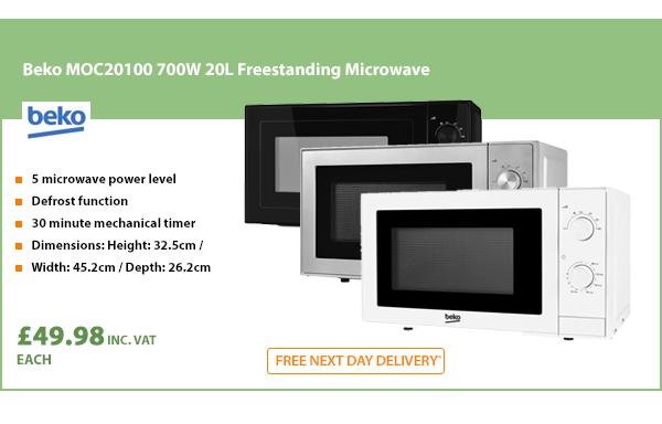 Beko MOC20100W Solo Microwave