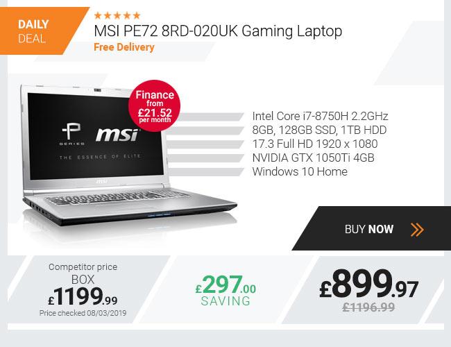 MSI PE72 8RD-020UK Gaming Laptop