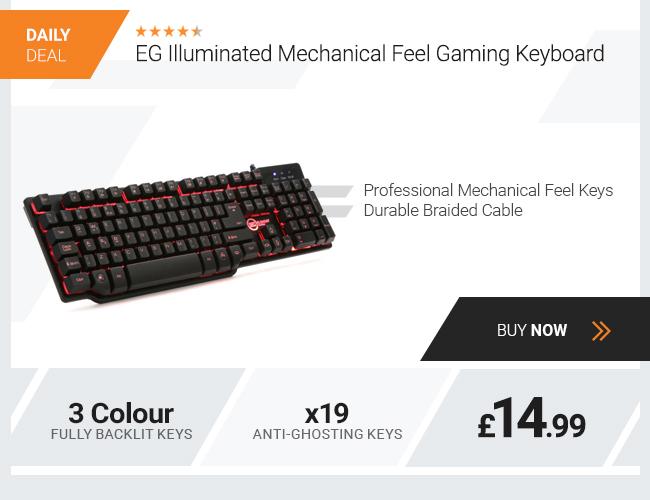 EG Illuminated Mechanical Feel Gaming Keyboard