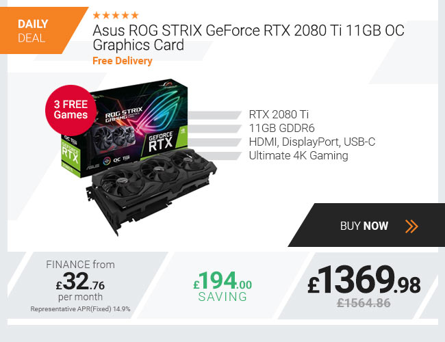 Asus ROG STRIX GeForce RTX 2080 Ti 11GB OC Graphics Card