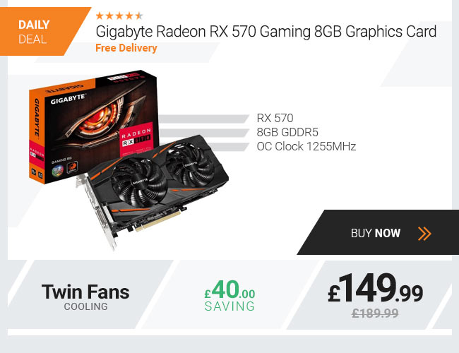 Gigabyte Radeon RX 570 Gaming 8GB Graphics Card