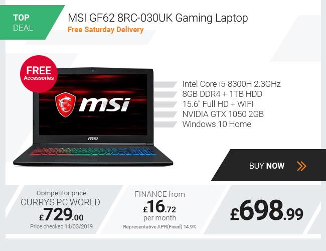 MSI GF62 8RC-030UK Gaming Laptop