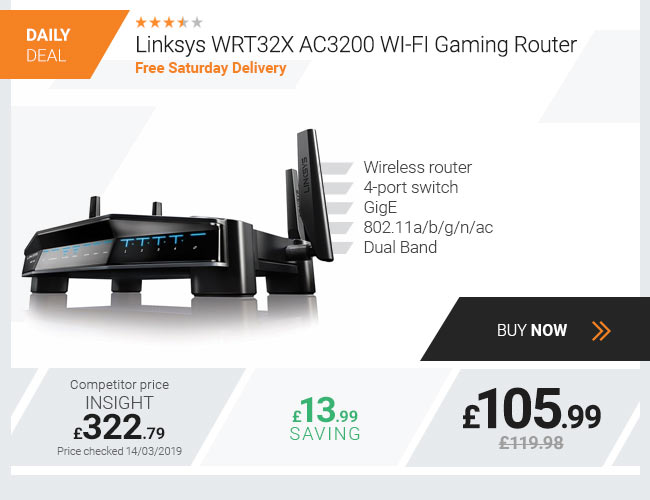 Linksys WRT32X AC3200 WI-FI Gaming Router