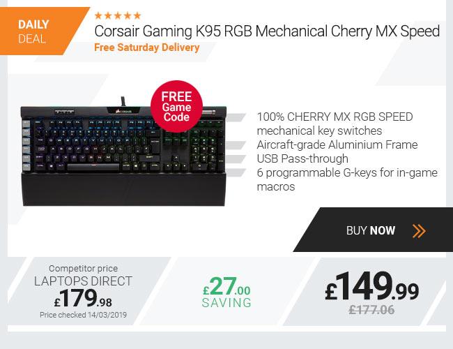 Corsair Gaming K95 RGB Mechanical Cherry MX Speed