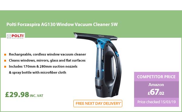 Polti Forzaspira AG130 Window Vacuum Cleaner 5W