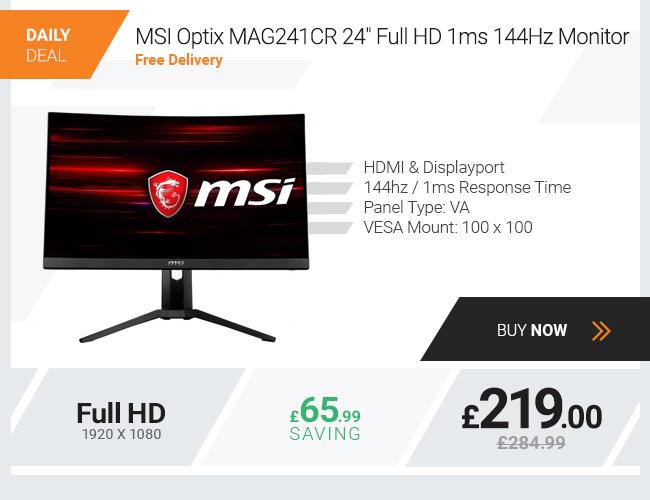 MSI Optix MAG241CR 24in Full HD 1ms 144Hz Monitor
