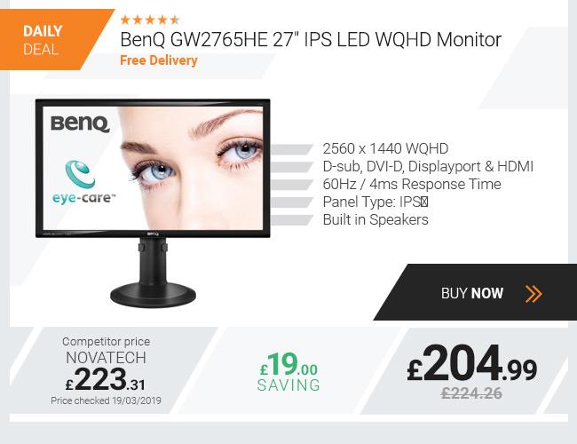 BenQ GW2765HE 27in IPS LED WQHD Monitor