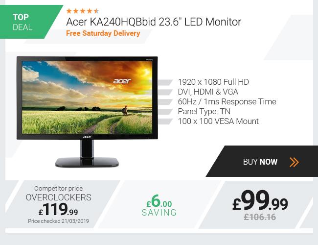 Acer KA240HQ, 23.6in LED Monitor