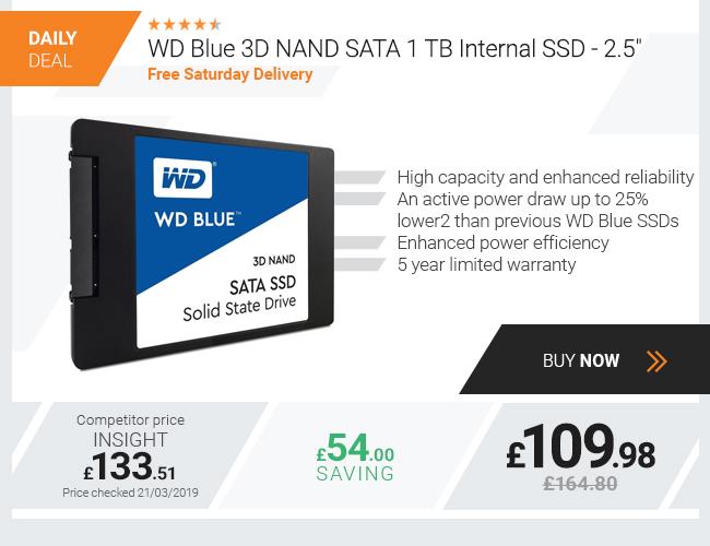 WD Blue 3D NAND SATA 1 TB Internal SSD