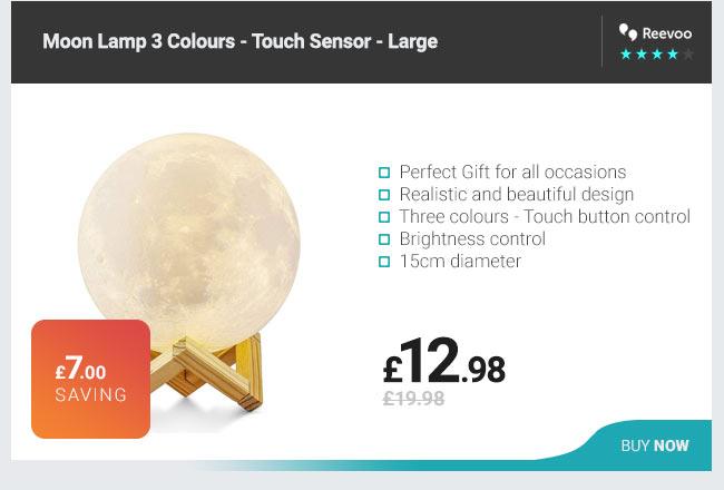 Moon Lamp 3 Colours - Touch Sensor - Large