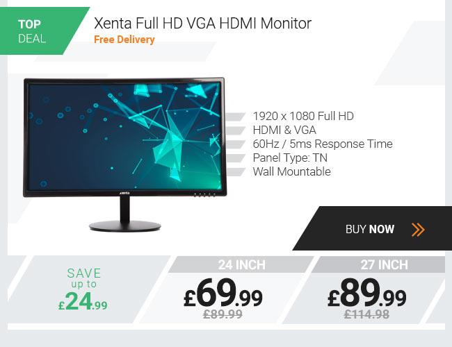 Xenta 24in Full HD VGA HDMI Monitor