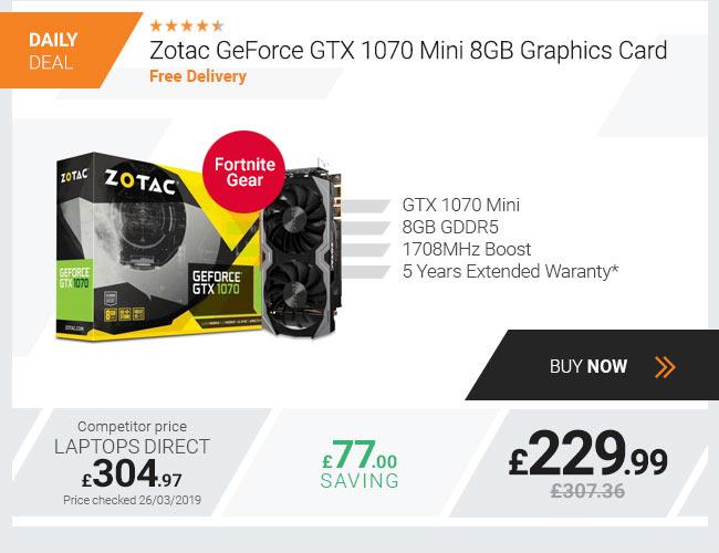 Zotac GeForce GTX 1070 Mini 8GB Graphics Card