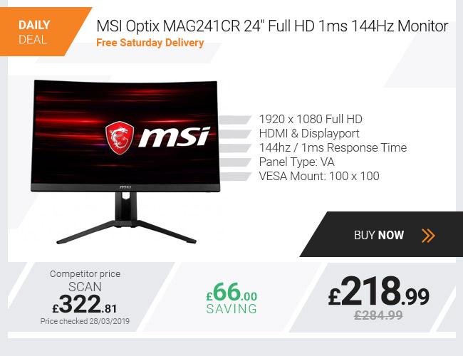 "MSI Optix MAG241CR 24"" Full HD 1ms 144Hz Monitor"