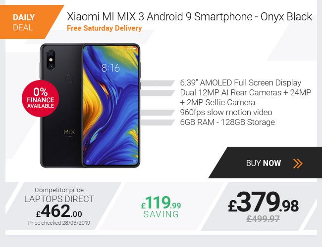 Xiaomi MI MIX 3 6.39in 6GB +128GB Android 9 Smartphone - Onyx Black