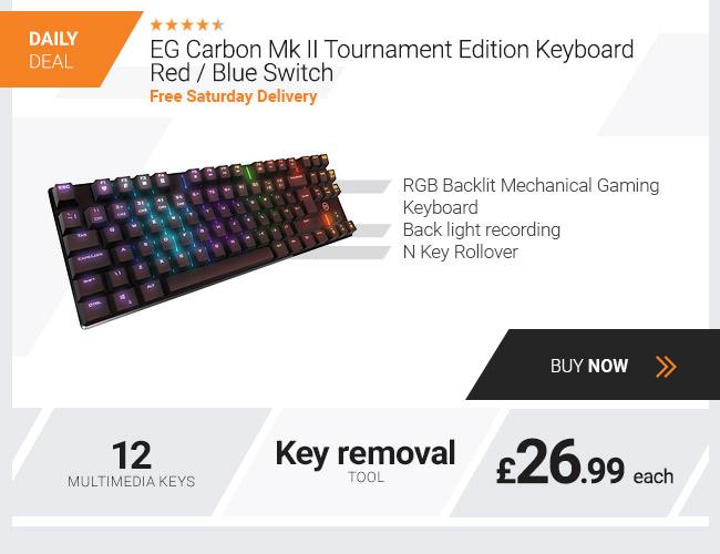 EG Carbon Mk II Blue Switch Tournament Edition Keyboard