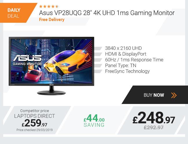 Asus VP28UQG 28in 4K UHD 1ms Gaming Monitor