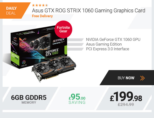 Asus GTX ROG STRIX 1060 Gaming 6GB GDDR5 Graphics Card