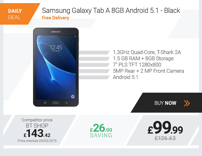 Samsung Galaxy Tab A 8GB Android 5.1 - Black