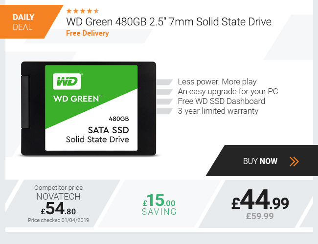 WD Green 480GB 2.5in 7mm Solid State Drive