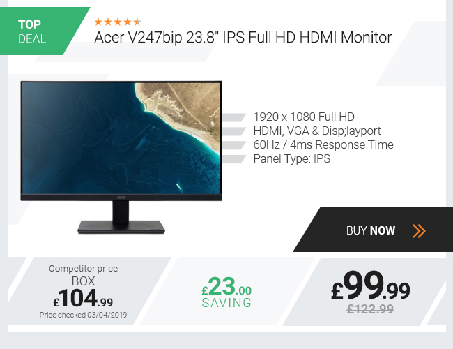 Acer V247bip 23.8in IPS Full HD HDMI Monitor