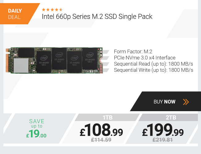 Intel 660p Series M.2 SSD Single Pack