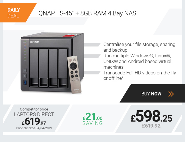 QNAP TS-451+ 8GB RAM 4 Bay NAS
