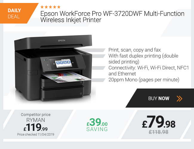 Epson WorkForce Pro WF-3720DWF Multi-Function Wireless Printer