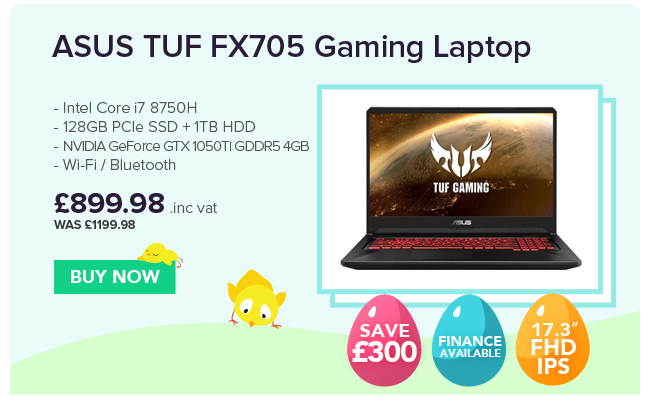 ASUS TUF FX705GE EW096T NVIDIA GTX 1050Ti 4GB Gaming Laptop