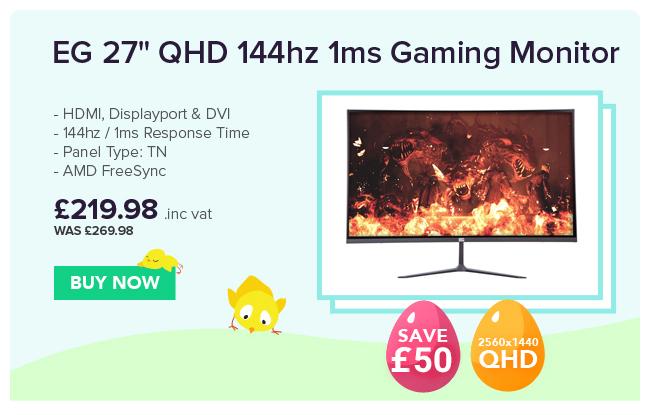 EG 27in QHD 144hz 1ms Gaming Monitor
