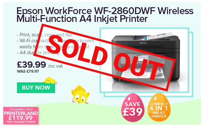 Epson WorkForce WF-2860DWF Colour Ink-jet - Multifunction printer