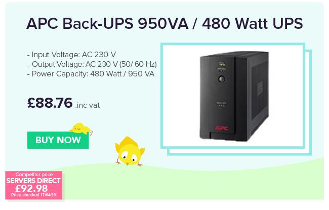 APC Back-UPS 950VA 480 Watt UPS