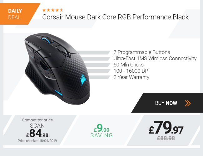 Corsair Mouse Dark Core RGB Performance Black