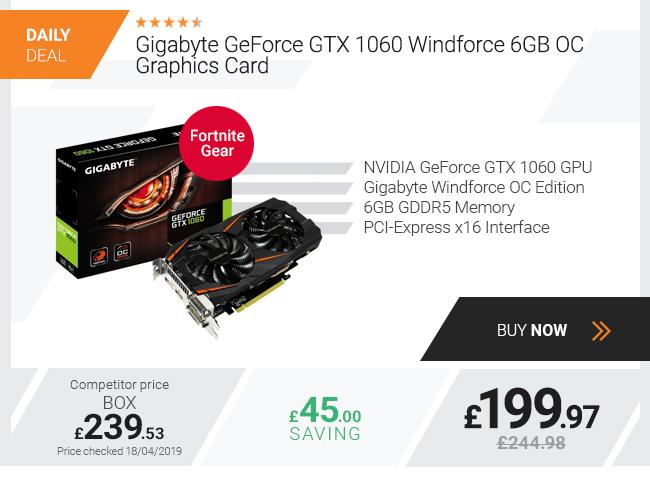 Gigabyte GeForce GTX 1060 Windforce 6GB OC Graphics Card