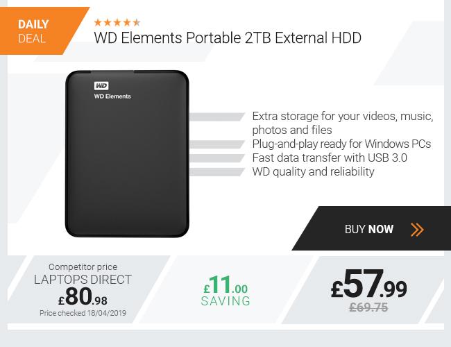 WD Elements Portable 2TB External HDD