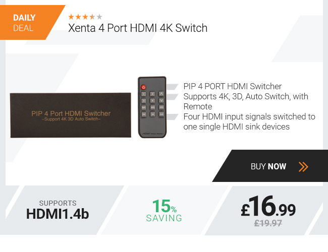Xenta 4 Port HDMI 4K Switch