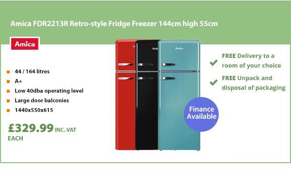 Amica Retro-style Fridge Freezer 55cm width