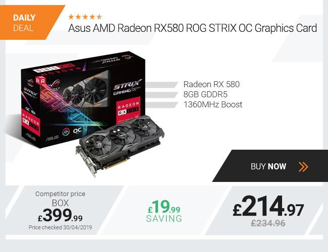 Asus AMD Radeon RX 580 ROG STRIX OC 8GB Graphics Card